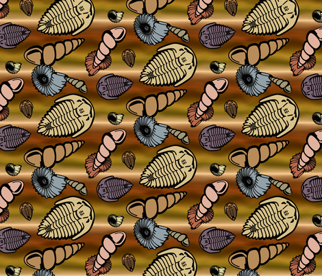 Fossil Layers - Muted fabric by will_la_puerta on Spoonflower - custom fabric