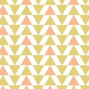Gold and salmon triangles
