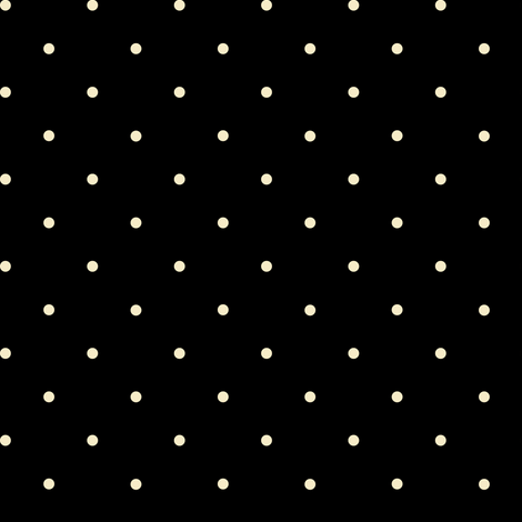 black and cream polka dot fabric by georgeandgracie on Spoonflower - custom fabric