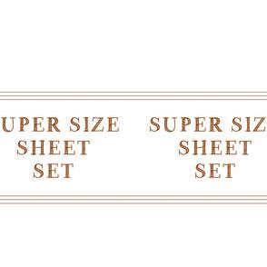 super size sheet set case