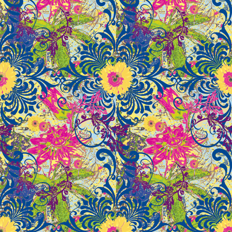 Ambrosia Floral fabric by frances_hollidayalford on Spoonflower - custom fabric