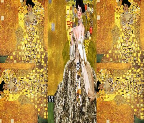 Klimt Collage Adele fabric by winterblossom on Spoonflower - custom fabric