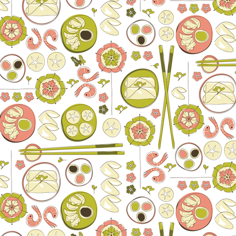 Some dim sum fabric by ebygomm on Spoonflower - custom fabric