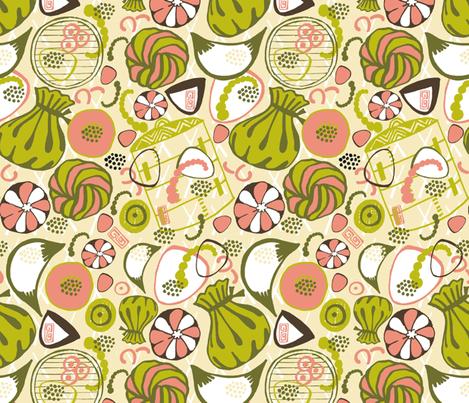Dim Sum Delicious! fabric by slumbermonkey on Spoonflower - custom fabric