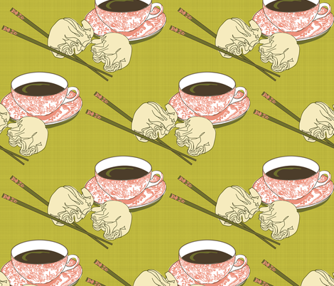 Tea and Dim Sum fabric by shellypenko on Spoonflower - custom fabric