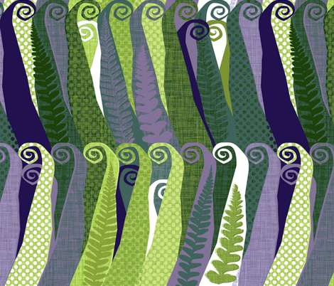 Wildwood Fern fabric by spellstone on Spoonflower - custom fabric