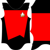 Space captain baby bodysuit - 3 red designs