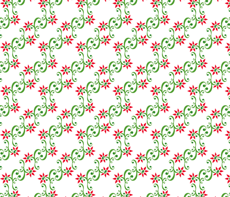 ornamental flower fabric by honey_gherkin on Spoonflower - custom fabric
