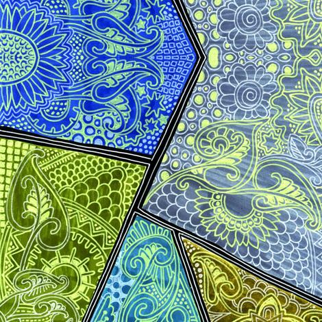 Sunflower Batik fabric by edsel2084 on Spoonflower - custom fabric