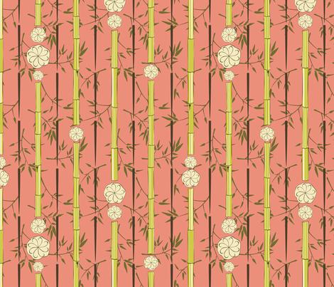 Shanghai Dumpling Bamboo Windchime fabric by audsbodkin on Spoonflower - custom fabric