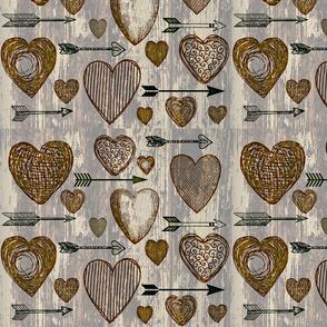 Antique Hearts and Arrows