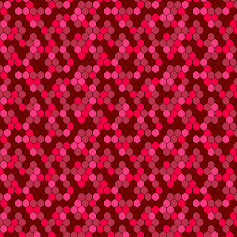 ruby sparkle honeycomb fabric by bubbledog on Spoonflower - custom fabric