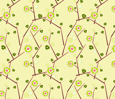 Dim Sum Flowers 2 fabric by vinpauld on Spoonflower - custom fabric