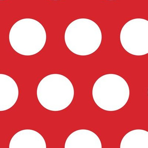 Polka Dot - White on Red XL