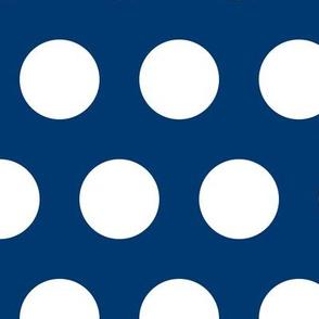 Polka Dot - White on Navy XL