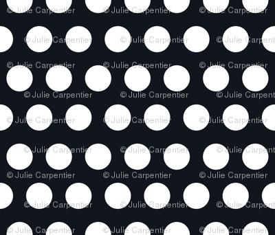 Polka Dot - White on Black XL