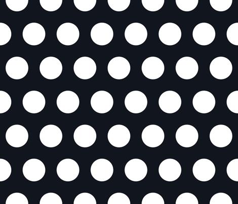 Polka Dot - White on Black XL fabric by juliesfabrics on Spoonflower - custom fabric