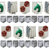 Attack on Titan Military and Wall Crests