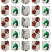Attack on Titan Military Crests