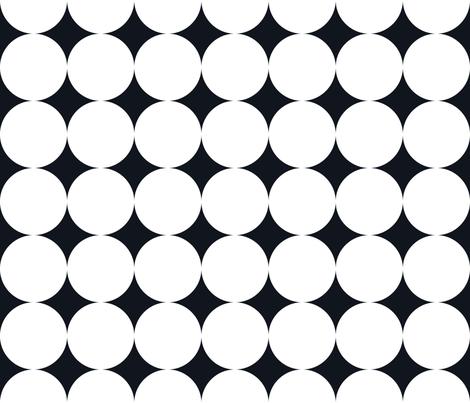 Polka Dot - White on Black XXL fabric by juliesfabrics on Spoonflower - custom fabric