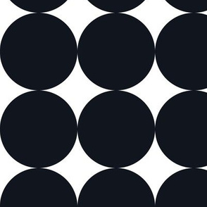 Polka Dot - Black on White XXL