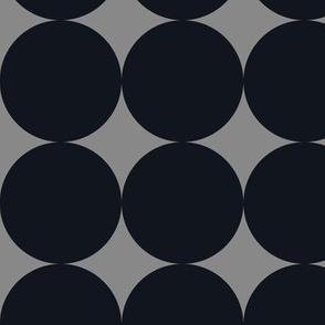 Polka Dot - Black on Gray XXL