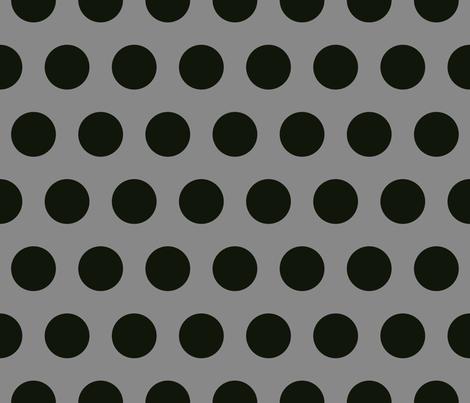 Polka Dot - Black on Gray XL fabric by juliesfabrics on Spoonflower - custom fabric