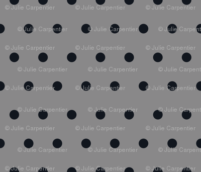 Polka Dot - Black on Gray
