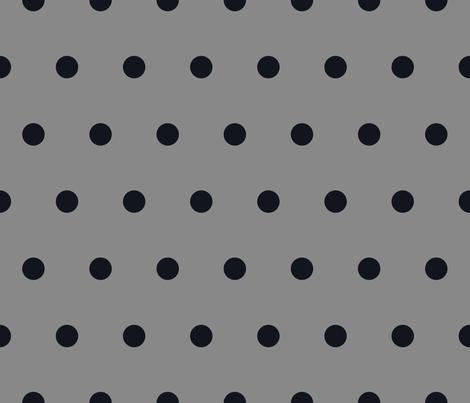 Polka Dot - Black on Gray fabric by juliesfabrics on Spoonflower - custom fabric