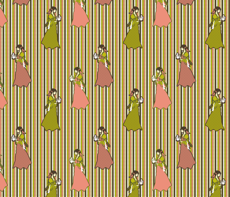 Cantonese Ladies (dots) fabric by vannina on Spoonflower - custom fabric