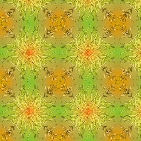 sinuosity solar spring fabric by glimmericks on Spoonflower - custom fabric
