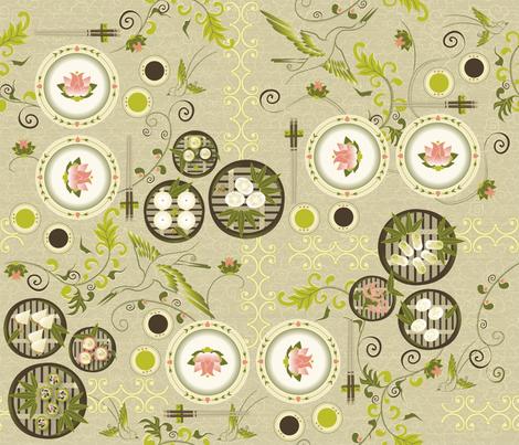 Dim Sum Garden fabric by liluna on Spoonflower - custom fabric