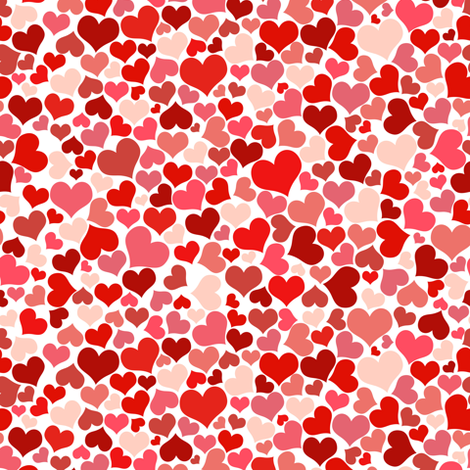 Candy Hearts fabric by puggy_bubbles on Spoonflower - custom fabric