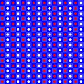 Red White Blue Polka Dot Check