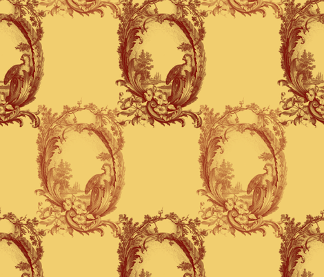 Toile de Lally! ~ Golden Harvest fabric by peacoquettedesigns on Spoonflower - custom fabric