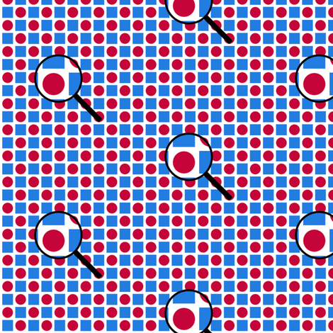 geometric examination - red, white, and blue fabric by victorialasher on Spoonflower - custom fabric