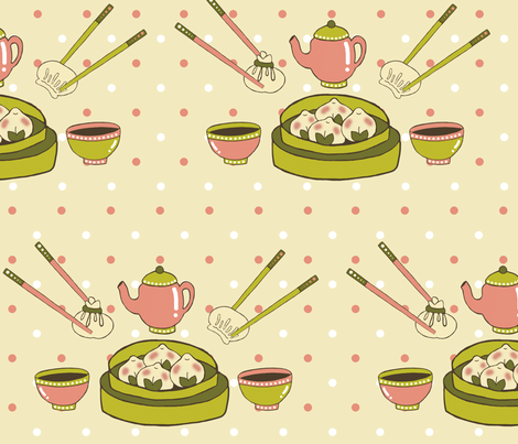 Dim Sum Delish fabric by tropicmel on Spoonflower - custom fabric
