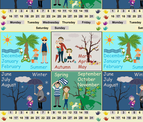 Seasons, Months, Days Decal fabric by upcyclepatch on Spoonflower - custom fabric