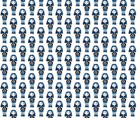 Blue Rock It Roller Derby Dolls fabric by derbymom716 on Spoonflower - custom fabric