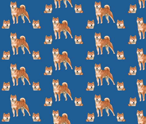 shib_inu_233 fabric by romatex on Spoonflower - custom fabric