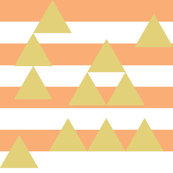 Salmon stripes with gold triangles