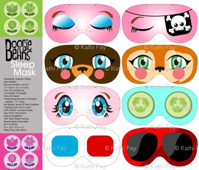Fun face sleep masks