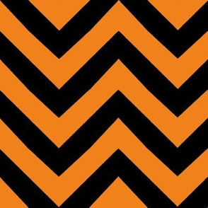 orange halloween chevron