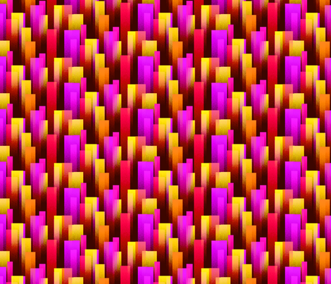 Warm Color Streaks - Rough fabric by will_la_puerta on Spoonflower - custom fabric