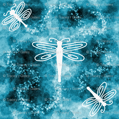 Dark blue Dragonfly