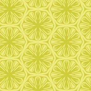 Yellow Citrus Pattern