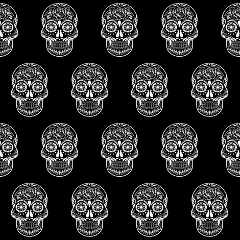 SKULL  small fabric by twoboos on Spoonflower - custom fabric
