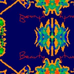 blue floral-ed