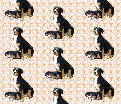 Swissie Mother Love fabric by dogdaze_ on Spoonflower - custom fabric