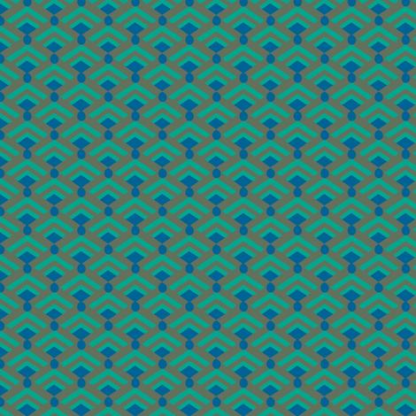 Peacock Deco Diamonds Miniature fabric by bloomingwyldeiris on Spoonflower - custom fabric